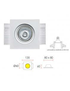 0027 Spotlight in Plaster, Concealed