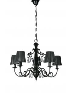 WALTZ Chandelier black with rhinestones