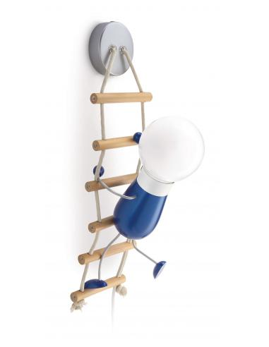 Climbo - Lampada da parete bambino con omino con scala