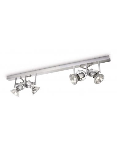 Traveller - Bar spot 4 lights pair gray metal
