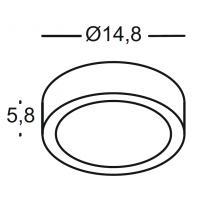 Applique outside the circular anthracite