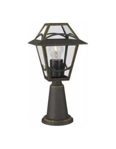 Babylon - Post lantern brushed black H. 36 cm 1xE27 60W (Bulb excl.)