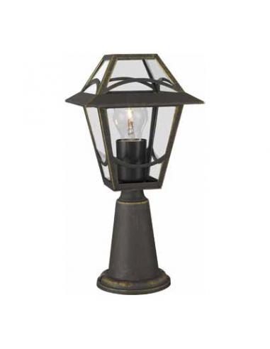 Babylon - Paletto con lanterna nero spazzolato H. 36 cm 1xE27 60W (Lampadina escl.)
