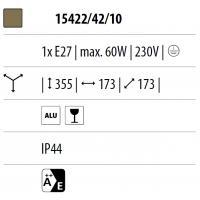 Babylon - Post lantern brushed black H. 36 cm 1xE27 60W (Bulb excl.)
