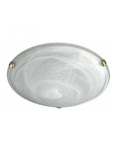 Zara - Lampada da soffitto in vetro alabastro bianco D40