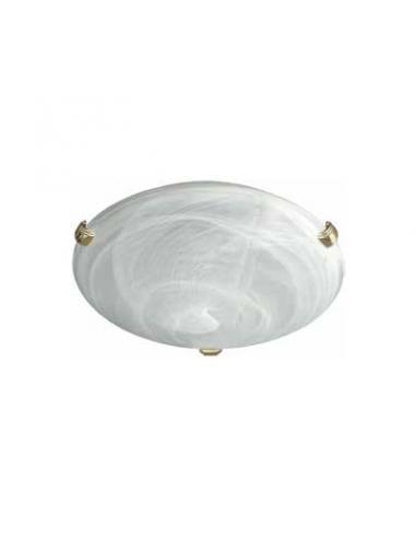 Zara - Lampada da soffitto in vetro alabastro bianco D30
