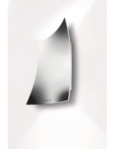 FEUILLE Lampada da parete vela in alluminio cromato High PowerLED