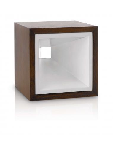 KUBIZ Lampada da tavolo marrone LED