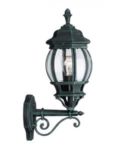 Dubrovnik - Lampada da parete lanterna americana up verde anticato