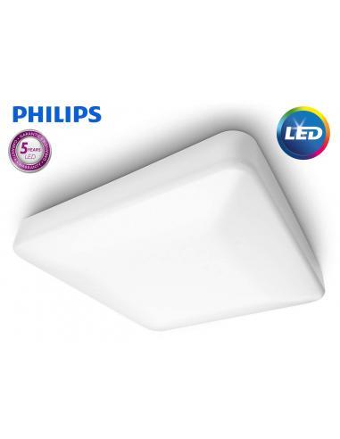 Linen - LED ceiling Lamp white square 28W
