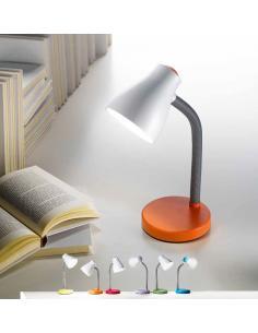 Lampada da tavolo in plastica colore azzurro
