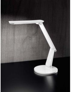 Table lamp in plastic white in colour with usb port