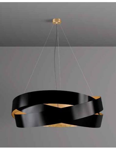 PURA 120 - Sospensione nero/foglia oro