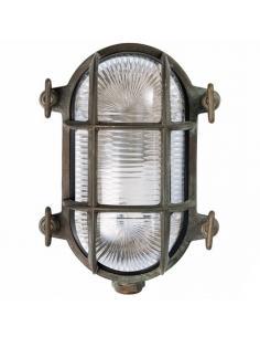 Plafoniera ovale ottone