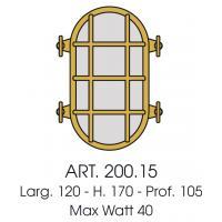 Ceiling light oval brass