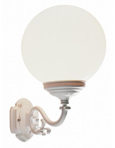 Lampada da parete per l'esterno opale