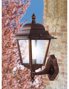 Applique outdoor DOWN black/copper