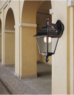 Lampada da parete esterne nero/ramato