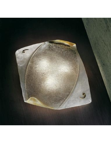 Firenze, lampada da parete foglia oro