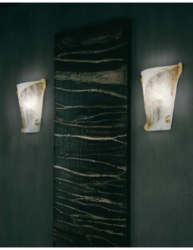 Atene, lampada da parete particolari oro