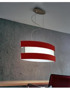 NEW YORK city, pendant lamp, red