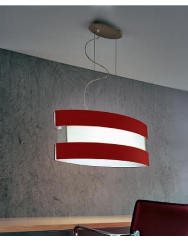 NEW YORK, lampada a sospensione rossa