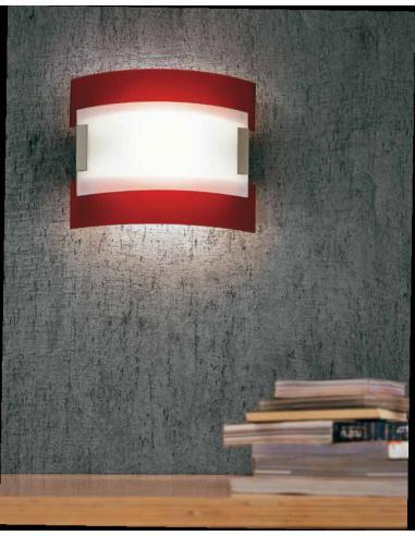 NEW YORK, lampada da parete rossa
