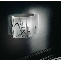Sillux LP6/238 Venezia Wall Lamp Glass White/Black
