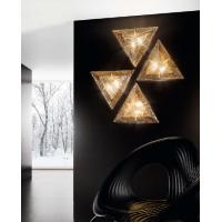 CEILING LIGHT WITH TRIANGULAR GLASS MURANO GRIT AMBER
