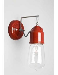 Novecento, lampada da parete con vetro