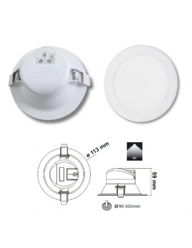 Recessed integrated LED 10W
