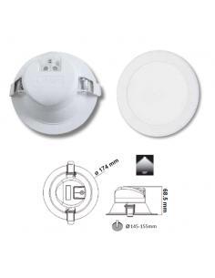 Incasso LED integrato 17W 1500lm 3000°K
