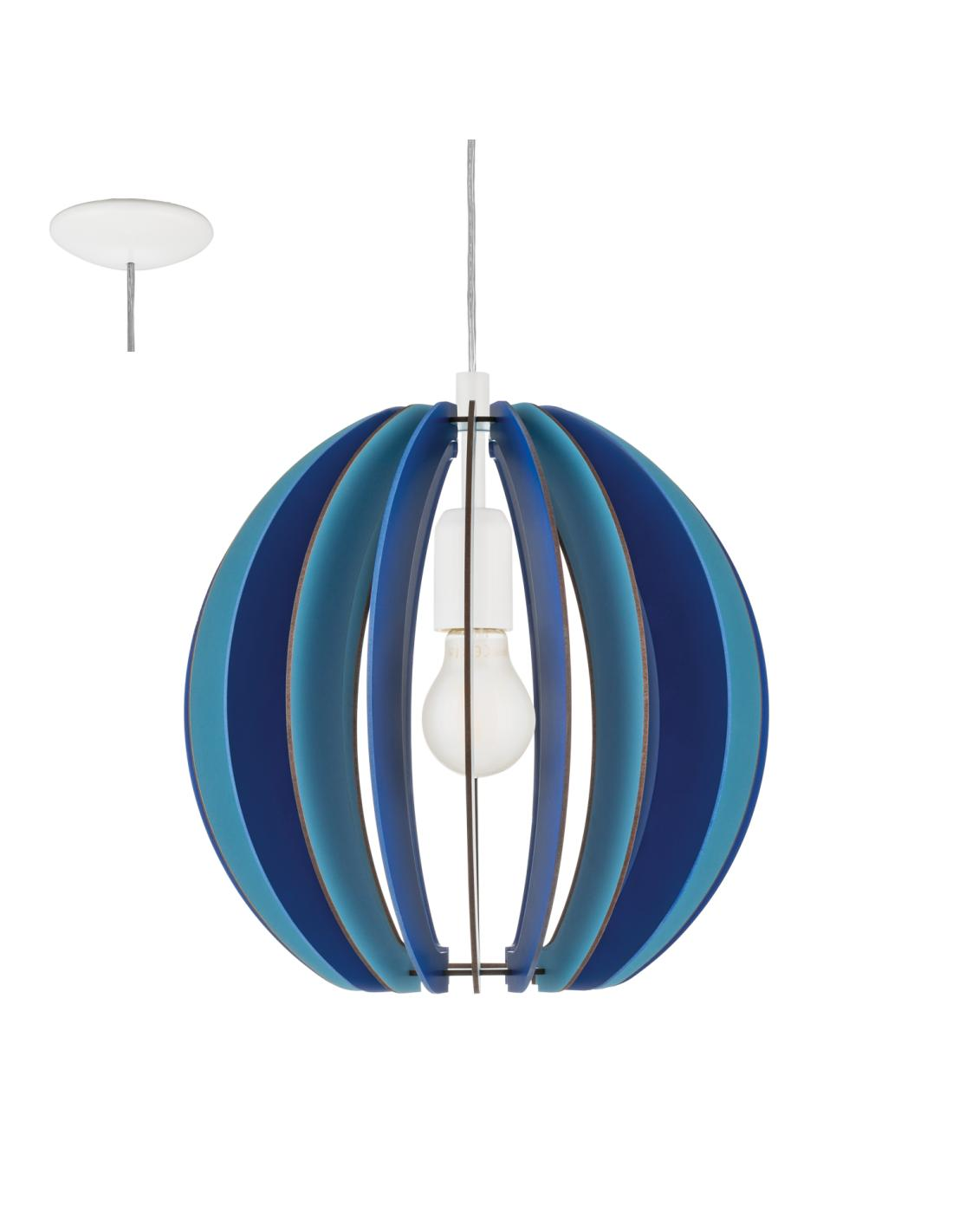 Eglo 95949 Fabella Suspension Wood Stained Blue