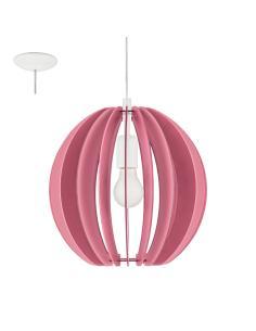 FABELLA, sospensione legno colorato rosa