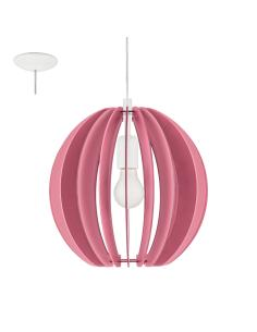 FABELLA, suspension wood colored pink