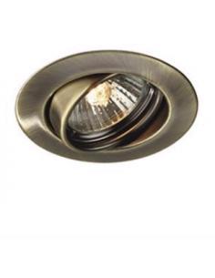 set of 3 spotlights recessed round adjustable bronze Massive