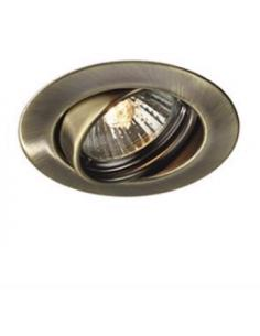set of 3 spotlights recessed round adjustable bronze Massive