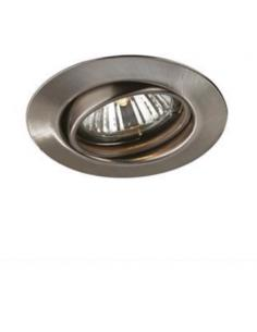 kit 3 spotlight, recessed, round adjustable nickel satin Massive