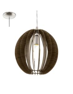 COSSANO, suspension, dark wood D30