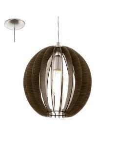 COSSANO, suspension, dark wood D30