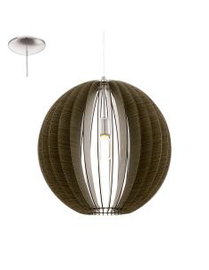 COSSANO, suspension, dark wood D50