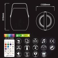 BARREL speaker LED rgb IP44