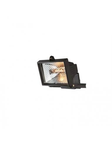 Headlight halogen black 1xR7S 120W