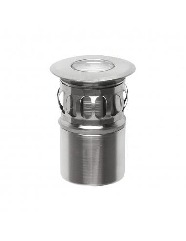 Linea Light - Beret 2R, 1 led tondo nikel da incasso