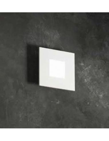 Applique/plafoniera in metallo verniciato bianco e acrilico LED