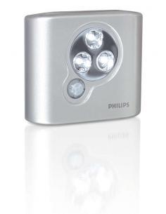 Philips - SpotOn, Luce led istantanea posizionabile ovunque, Argento