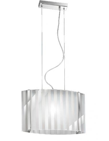 Sospensione media in cromo lucido con vetro trasparente e satinato