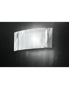 Applique small in polished chrome with clear glass and brushed