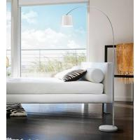 Perenz 6014 B Lampada Terra Orientabile Cromo Lucido E Bianco