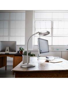 Lampada da tavolo flex con vetro satinato